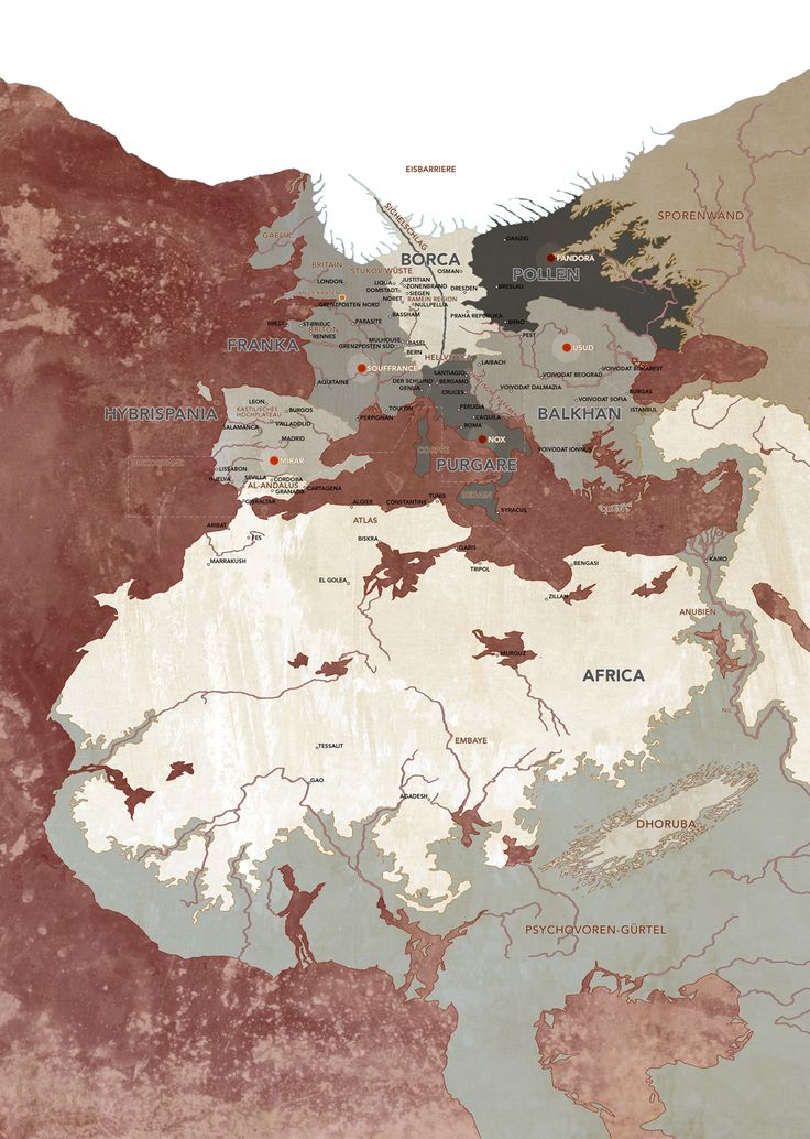 Africa Map Horn Of Africa%0A Map of the world of Degenesis  Europe and Africa in the year
