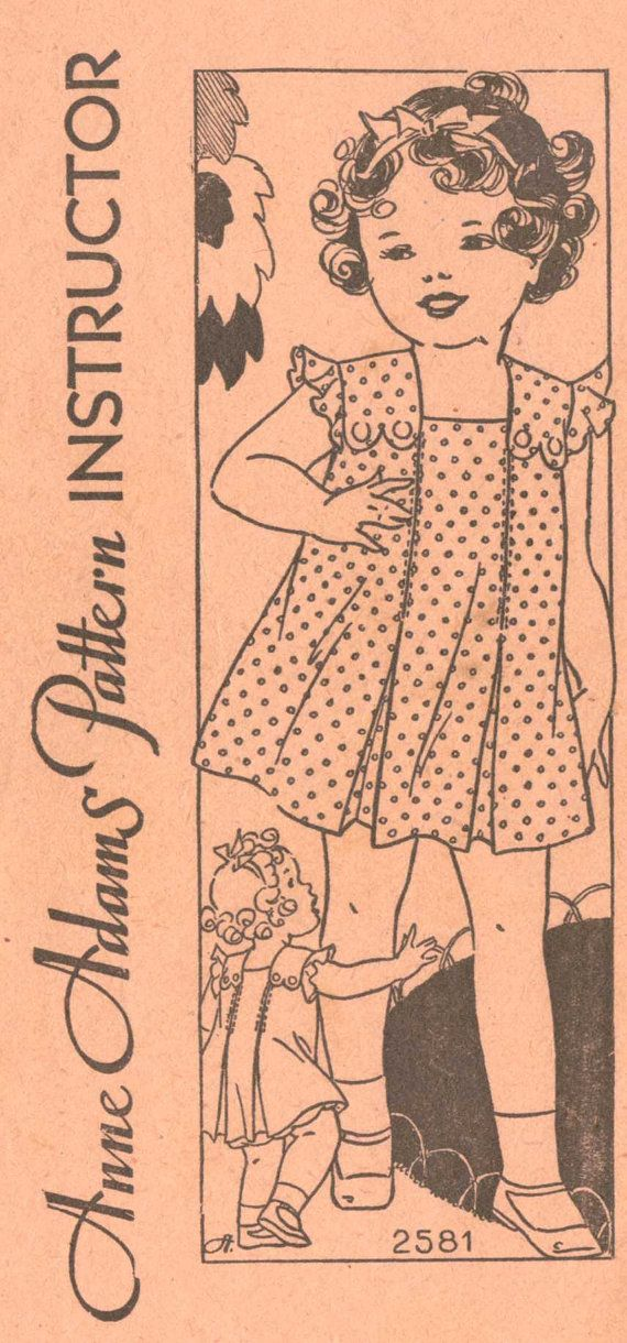 1930's Shirley Temple Dress Size 4T Anne Adams by retromonkeys