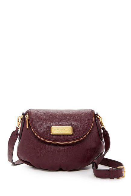 108ba9c9b843 Brand New MARC JACOBS Mini Natasha Leather Crossbody Handbag Dark Wine  298
