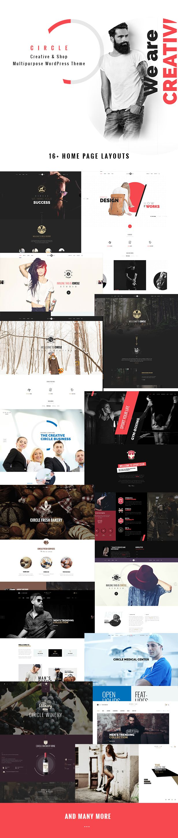 Circle is an all-purpose, inspiring, exquisite WordPress theme built with an intuitive design and ultimate core features to help you realize your dream website without touching a line of code.