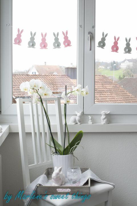 Oster Last Minute : Hasen-Girlande - Easter bunny garland