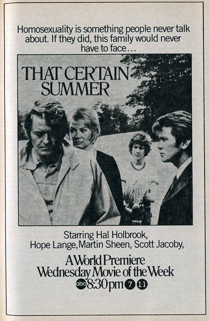 That Certain Summer Is A 1972 American Television Film Directed By
