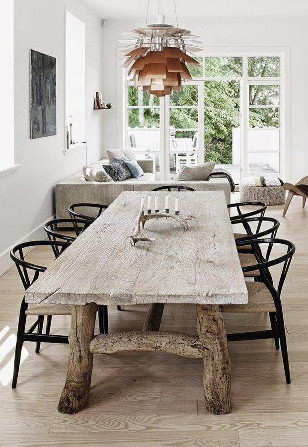 mesa de comedor con patas de madera | sweet home | Pinterest
