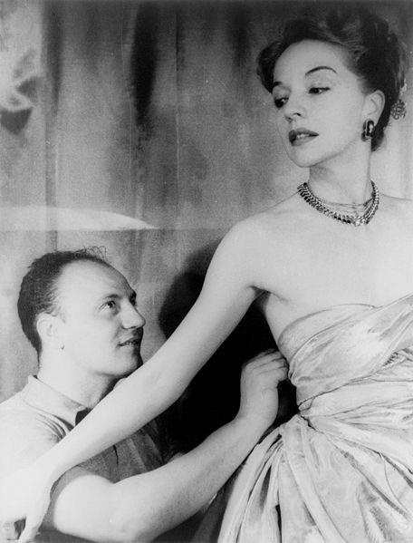 Pierre Balmain and the American actress Ruth Ford... Gorgeous designs for decades...