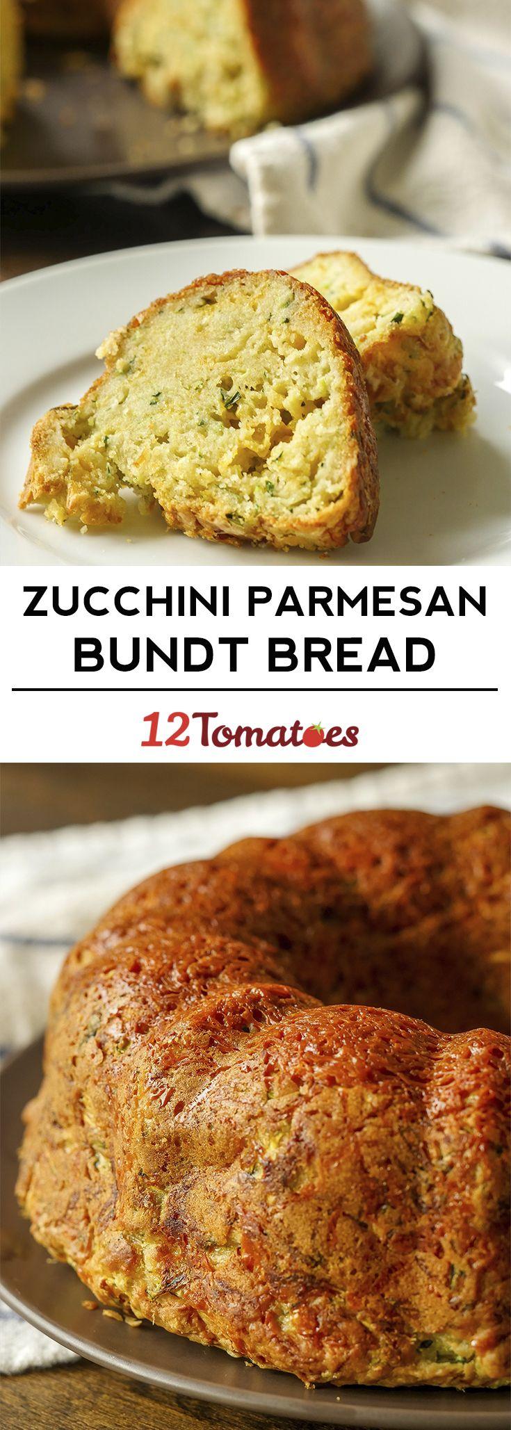 Zucchini Parmesan Bundt Bread