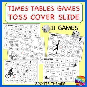 Grade / Year Level :: Primary Education :: Year 3 - 6 :: Math Games Learning MULTIPLICATION TIMES TABLES Roll Cover Bump Games