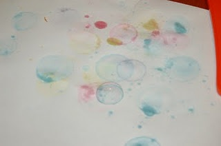 Bubble Art.  http://www.sippycupmom.com/2011/08/how-to-make-bubble-art-guest-post-from-surviving-a-teachers-salary.html