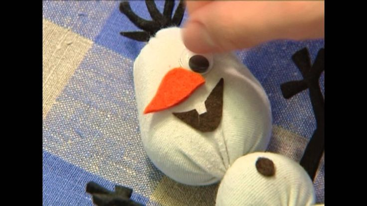 Снеговик из носка «Олаф» / Snowman «Olaf» / DIY