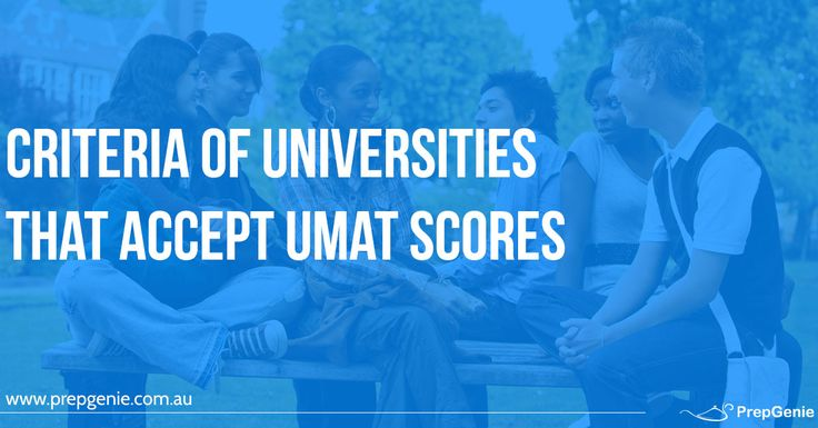Criteria of Universities that Accept UMAT Scores