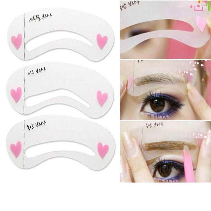3 Teile/satz Soor Karte Threading Ein Wort Augenbraue-verfassungs Werkzeuge Einfädeln Artefakt Soor Aid Karte Augenbrauen Form Kosmetische Zubehör