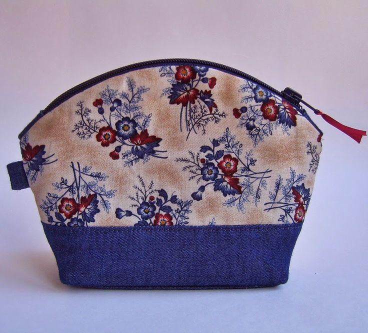 31 июня. Цветочная косметичка из американского хлопка и джинсовой ткани