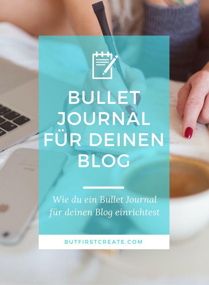 Bullet Journal für deinen Blog