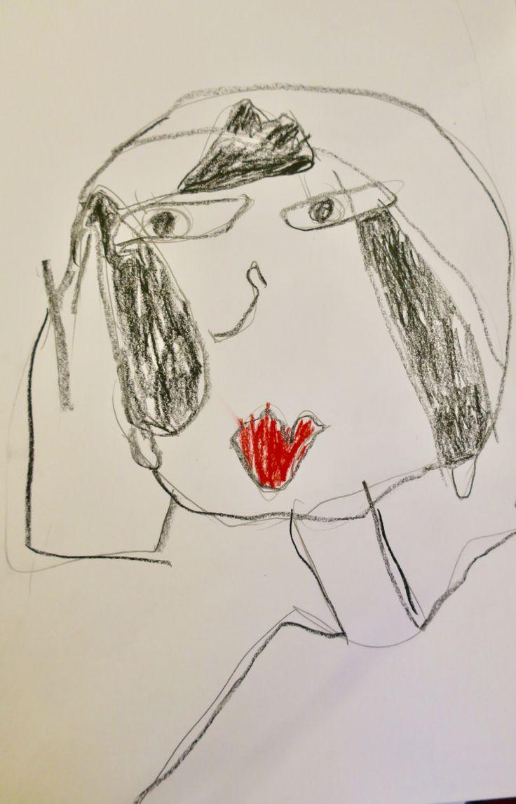 Tutustuimme Picassoon ja teimme kubistisen omakuvan.