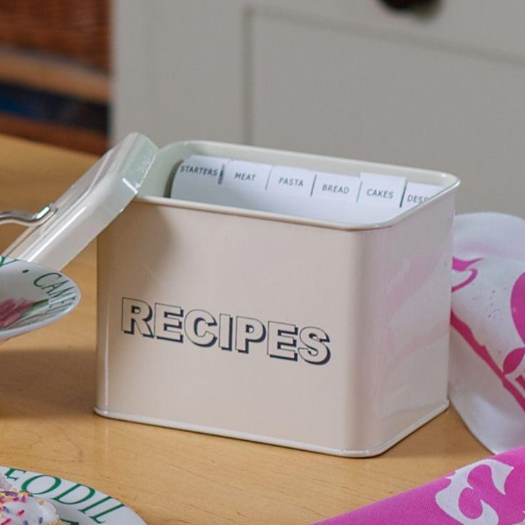 Recipe Index Tin #gifts #recipes