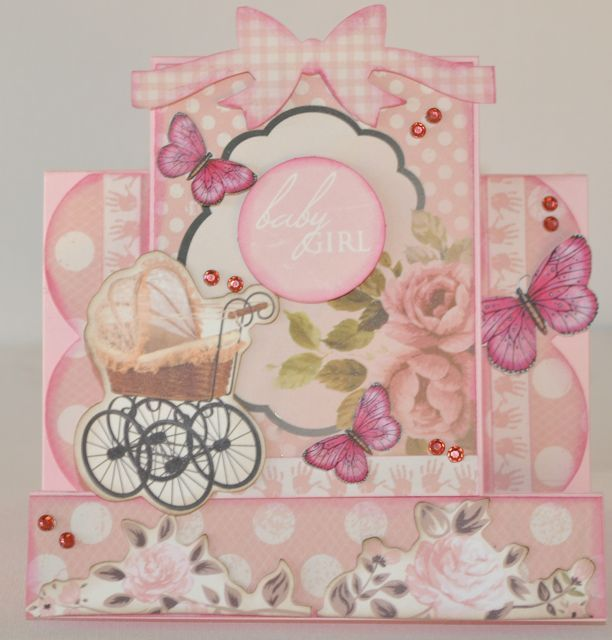 A step card by Kelly-ann Oosterbeek. Butterflies available at Etsy .... https://www.etsy.com/au/listing/192643609/hot-pink-printable-butterflies-in-3?ref=listing-shop-header-2