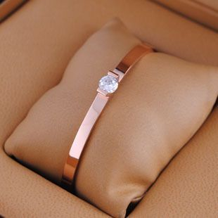 Cartier Rose Gold Single Diamond Bracelet