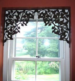 Use decorative shelf brackets in upper corners of a window or doorway. For your windows that you don't want to hide with curtains.