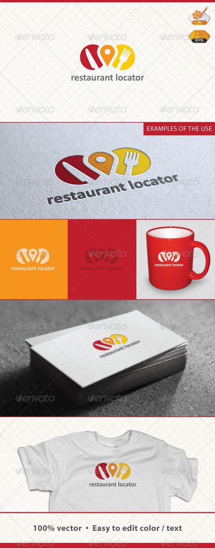 Restaurant Locator LogoGreat concept.    Identity system