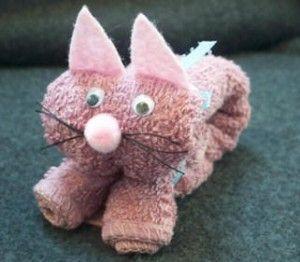 Face cloth cat design.  Baby_Shower_Favor_Boo_Boo_Bunny_Boo Boo Bunny