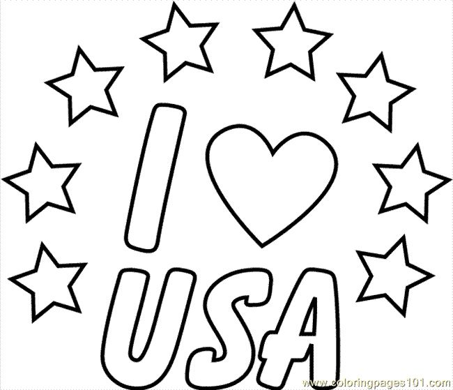 I Love Usa free printable coloring pages | Fashion ...