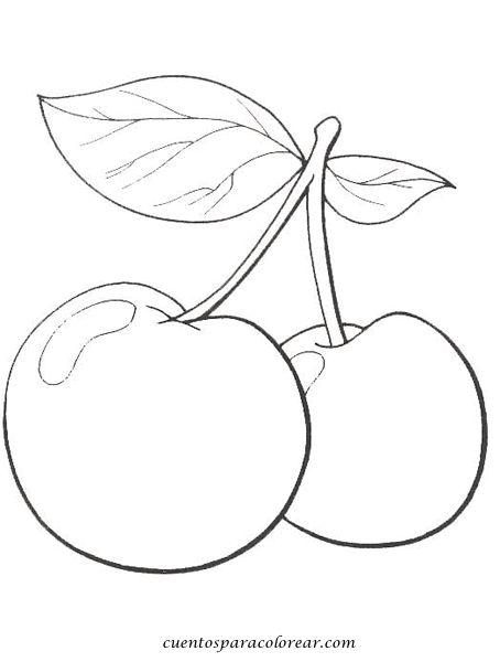 dibujos de frutas y verduras a color para imprimir - Buscar con Google                                                                                                                             Más