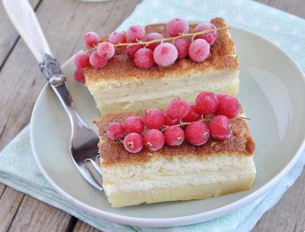 Gâteau magique au citron et lait d'avoineGâteau magique au citron et lait d'avoine