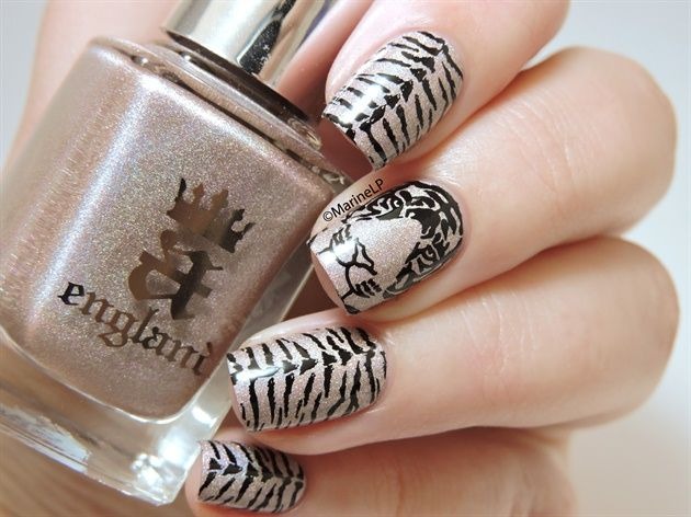 The 25 best tiger nails ideas on pinterest tiger nail art tigernailsbymarinelp nailartgallerynailartgallery prinsesfo Images