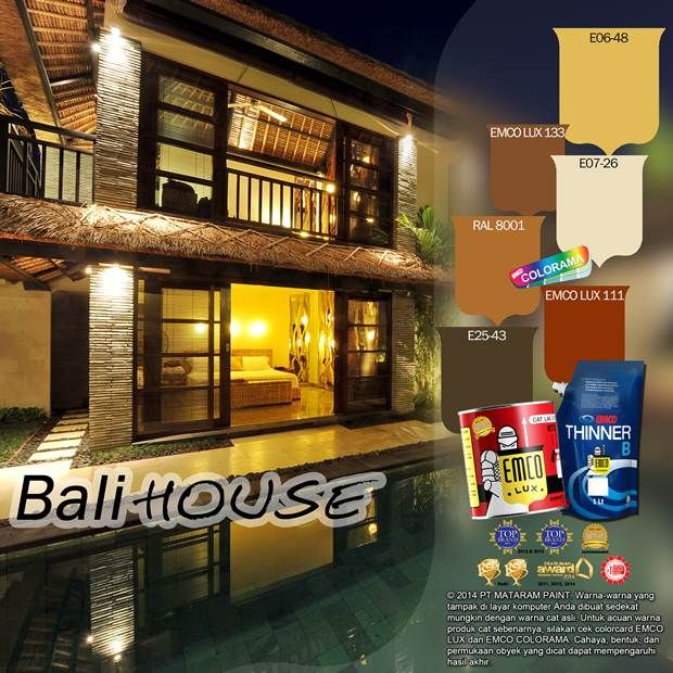 Bali House #BiasaJadiLuarBiasa #EMCOPaint http://matarampaint.com/detailNews.php?n=354