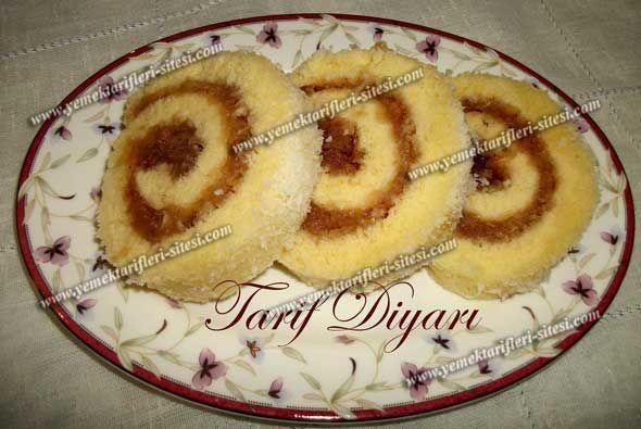 Elmalı Rulo Pasta | Yemek Tarifleri Sitesi - Oktay Usta - Harika ve Nefis Yemek Tarifleri