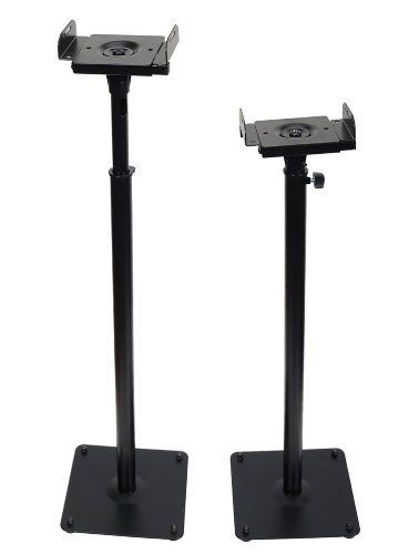 Videosecu supplies a broad variety of universal high-quality, well-designed and easy-installed mounts at cost-effective prices. The elegant floor stands are designed to accommodate satellite or surround sound loudspeakers from most major manufacturers. With a Twist-Lock mechanism, the stand... more details available at https://furniture.bestselleroutlets.com/game-recreation-room-furniture/tv-media-furniture/speaker-stands/product-review-for-videosecu-one-pair-of-adjustable-pa