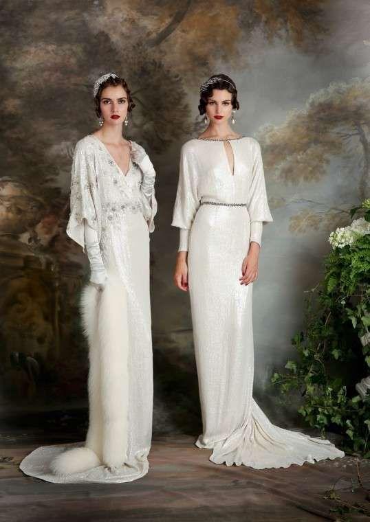 Vestidos de novia años 20: Fotos de los más fashion - Vestidos de novia años 20: con caída
