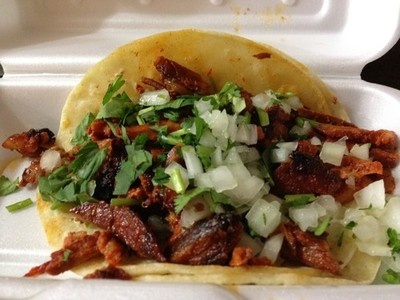 The one and only...Taco Al Pastor. Also known in other parts of México as adobada, trompo