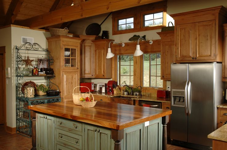 cocinas con diseño tradicional: Decor, Butcher Block, House Ideas, Country Kitchens, Kitchen Ideas, Kitchen Islands, Kitchen Designs, Kitchen Cabinets