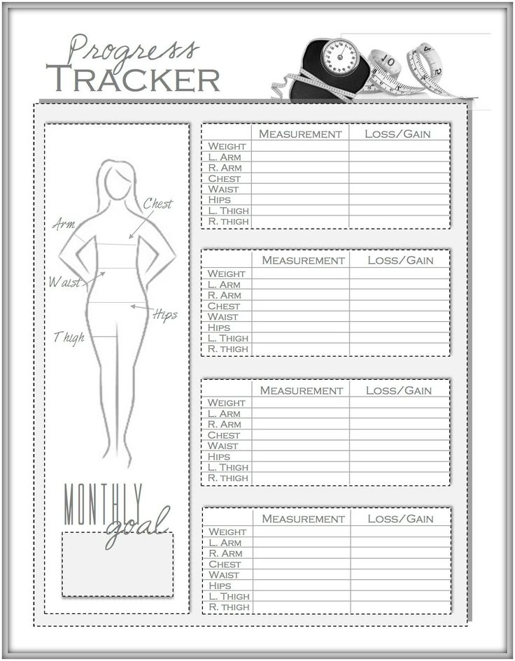 Awesome Weight Loss And Measurement Progress Tracker