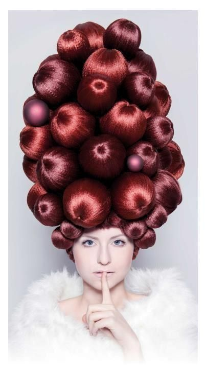 hair style -#extreme #hair #wig #high #fashion #haute #couture #red