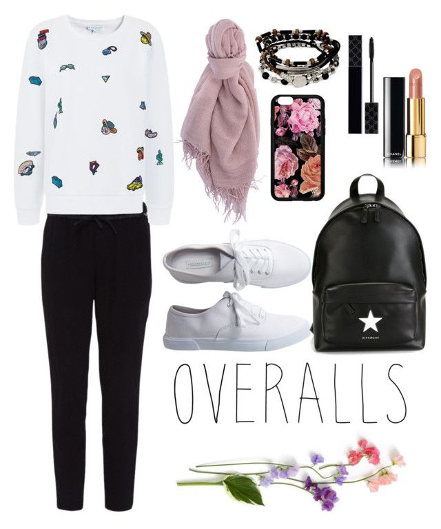 """""""overalls"""" by frdnrmla on Polyvore featuring Helmut Lang, Aéropostale, Givenchy, Chan Luu, Mira Mikati, Kenneth Cole, Chanel, Gucci, TrickyTrend and overalls"""
