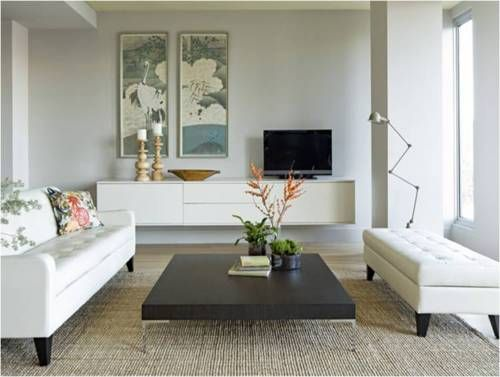 more floating fauxdenza goodness: Coffee Tables, Modern Living Rooms, White Living, Living Rooms Design, Media Cabinets, Interiors Design, Coff Tables, Families Rooms, Modern Retro