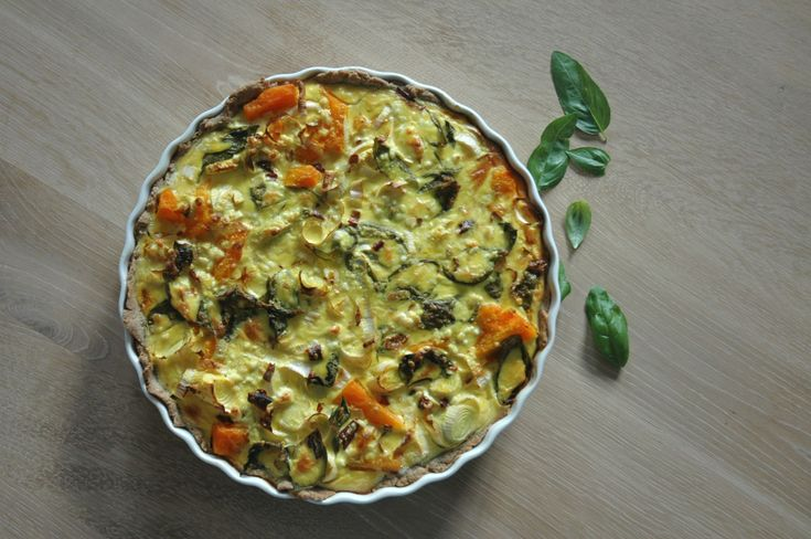 Spicy Pumpkin Quiche with Goat Cheese recipe - Foodista.com
