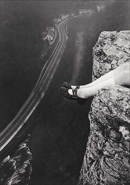 Paul Hill Legs over High Tor, Matlock, 1975, I've always wanted to do this....sit on a cliff over the highway and watch the cars :)