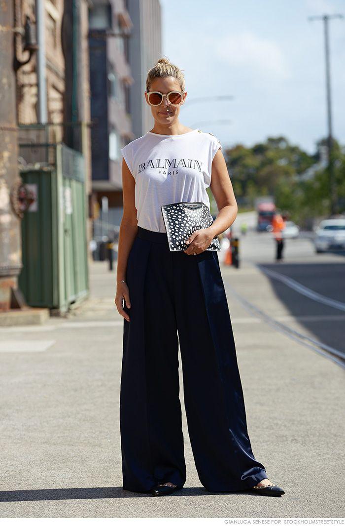 #ElleHalliwell working a wide leg in Sydney.
