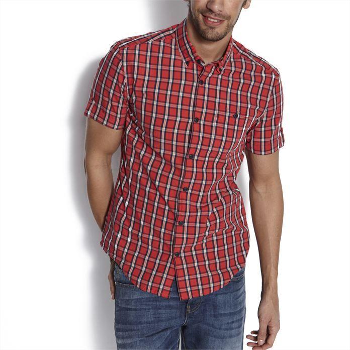 Chemise carreaux ajustée Rouge Carreaux homme – la mode homme sur Jules.com
