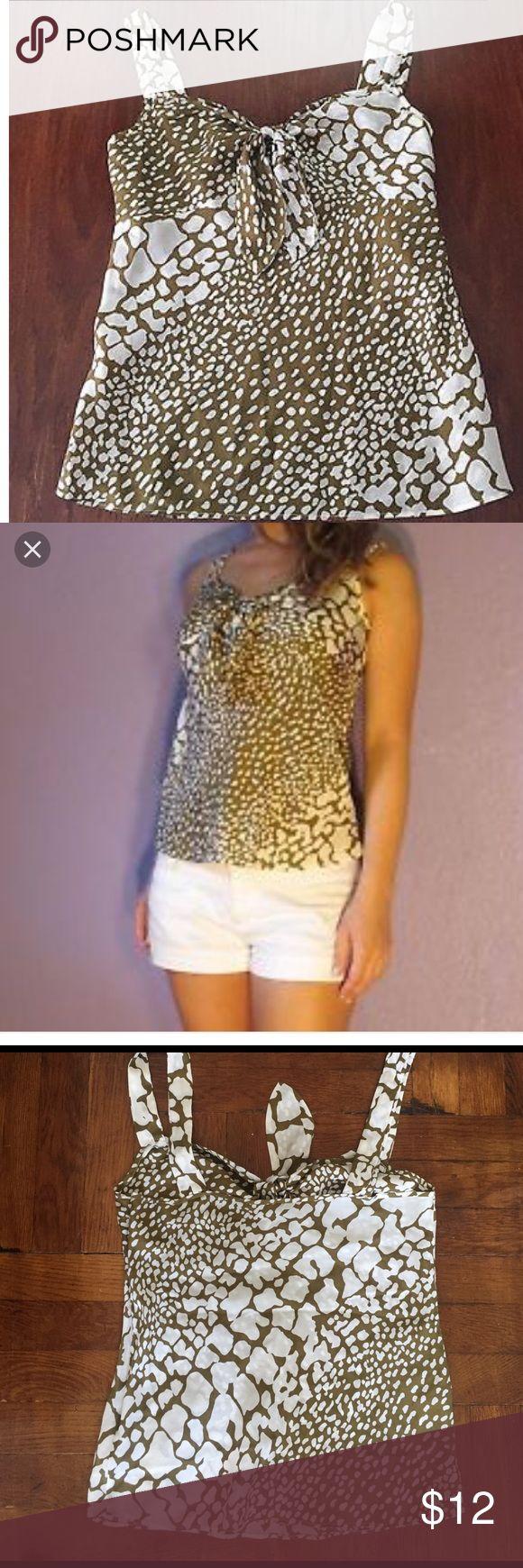 J Crew 100% silk python print blouse. NWOT 100% silk python print blouse J CREW. Perfect condition, never worn! Size 4, olive green J. Crew Tops Blouses
