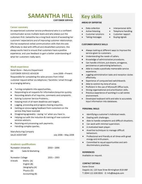 customer+service+resume | PROFESSIONALLY DESIGNED CUSTOMER SERVICE RESUME TEMPLATES