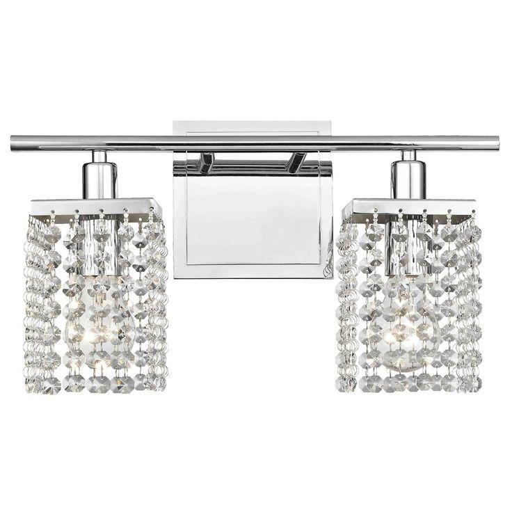 Ashford Classics Lighting 2-Light Crystal Bathroom Vanity Light 2275-26
