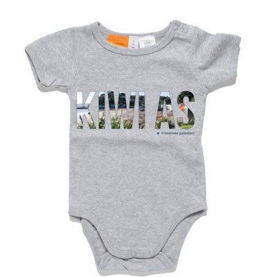 Kiwi As Baby Clothing - Grey One Piece