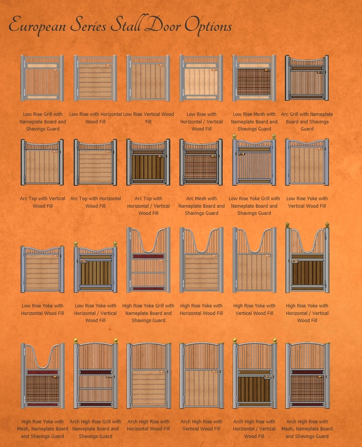variety of stall fronts from classic equine equpiment - Horse Barn Design Ideas