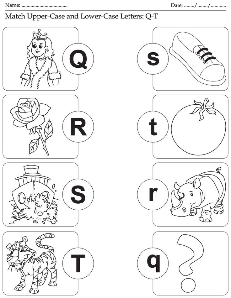 Match Upper-Case and Lower-Case Letters: Q-T