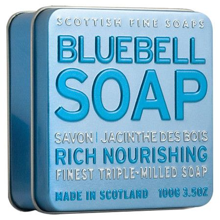 Scottish made triple-milled soap in a tin.  Product: Set of 3 soaps and tinConstruction Material: Triple milled ...
