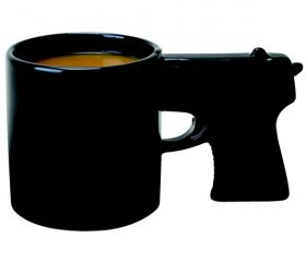 Gun Mug Set - So Neat #coffee #tea #cocoa #beverages #black #rifle #novelty #collectible #food #drink #kitchen #office #dishes #mancave #men #boys #guys #shooting