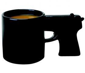 "Mug Designer 1: ""I've got the BEST idea. Gun mug."" Mug Designer 2: ""It'll never work. That's dumb. I'm so pretentious.""  Mug Designer 1: *presents with a flourish*  Mug Designer 2: ""...freaking brilliant."""